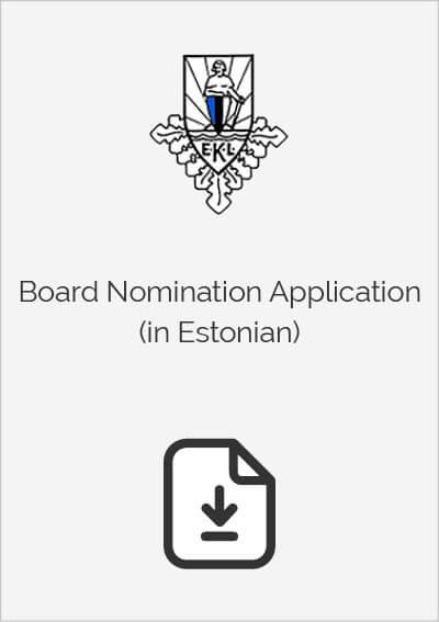 Board Nomination Application (in Estonian)